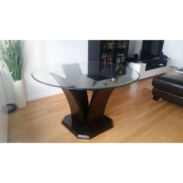 Espresso Glass Dining Table - Image 2 of 4