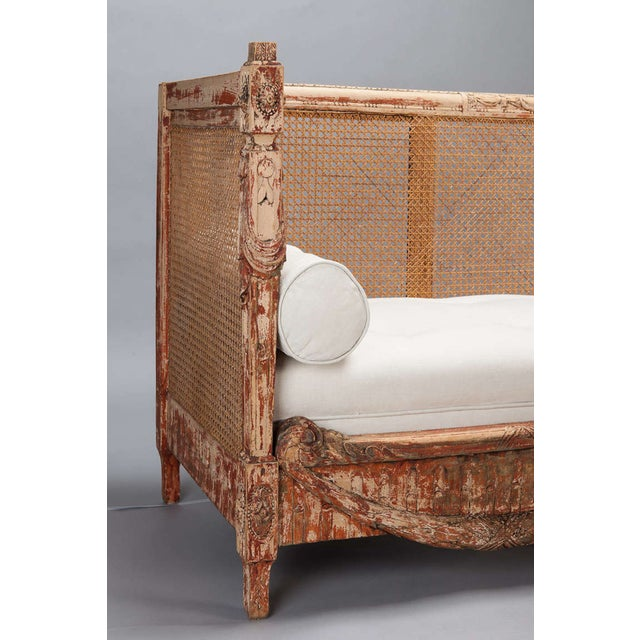 19th-Century Swedish Cane-Back Settee - Image 5 of 9