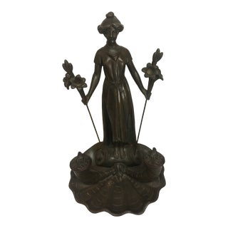 Art Nouveau Bronze Inkwell For Sale