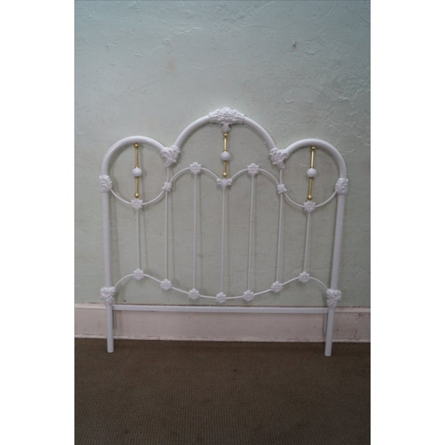 Painted Iron Brass Victorian Full Size Headboard - Image 9 of 10