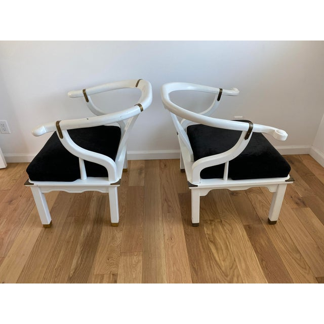 James Mont 1960s Vintage James Mont Style Ming Chairs - a Pair For Sale - Image 4 of 11
