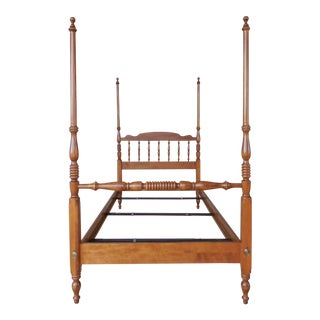 Ethan Allen Chippendale Style Twin Size Poster Bed 10-5631 Finish 211