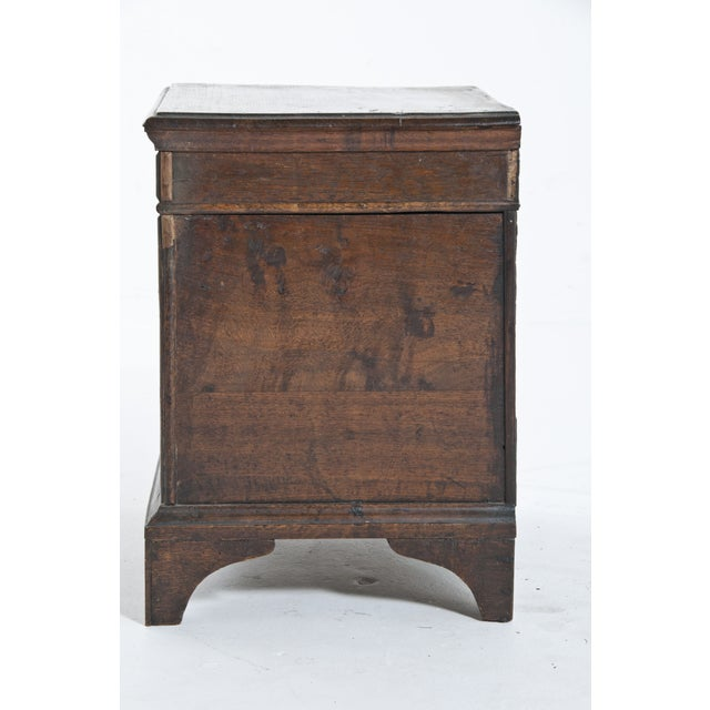 Wood Vintage Oak Trunk For Sale - Image 7 of 10