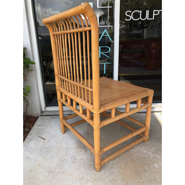 Wood 1980s Vintage Retro Boho Chic Accent Chair For Sale - Image 7 of 11