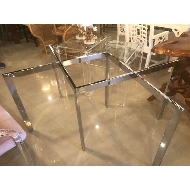 Vintage Milo Baughman Thayer Coggin Chrome Dining Table For Sale In West Palm - Image 6 of 11