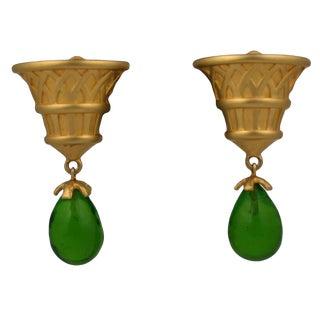 Karl Lagerfeld Eygptian Revival Earrings For Sale