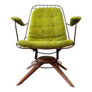 Vintage Mid Century Modern Atomic Springer Rocking Chair by Woodard For Sale