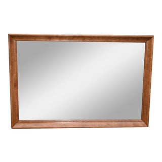 Ethan Allen Chippendale Solid Maple Rectangular Mirror For Sale