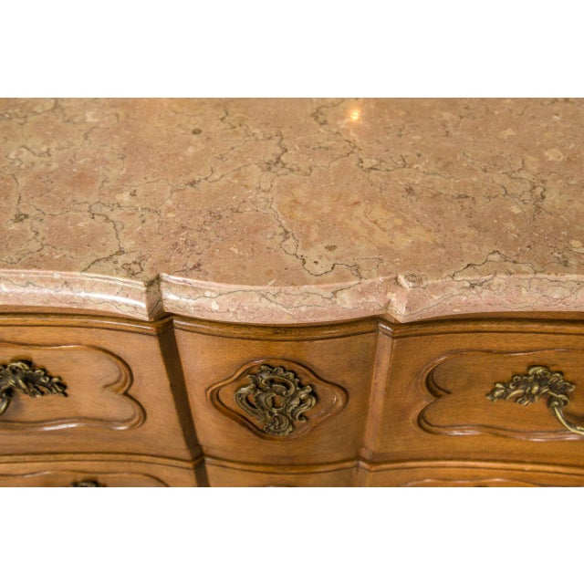 Marble-Top Louis XV Style Commodes - A Pair For Sale - Image 9 of 10