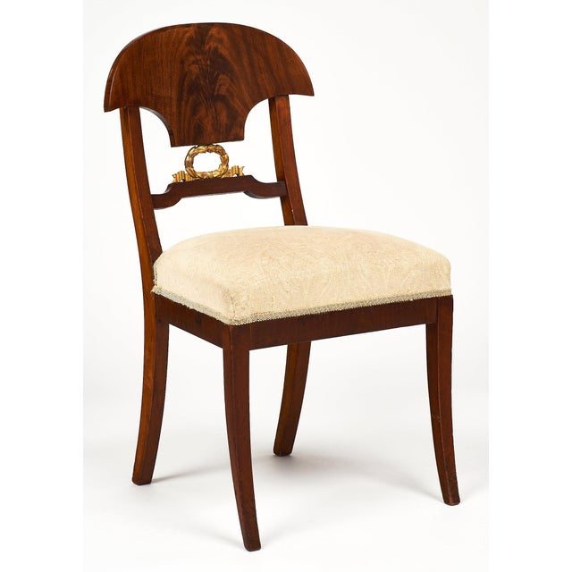 Swedish Antique Set of Flamed Dining Chairs For Sale In Austin - Image 6 of 11