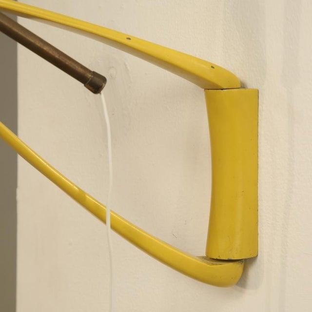 Stilnovo Yellow Metal Extendable Kite Lamp. Italy, 1950s - Image 5 of 6