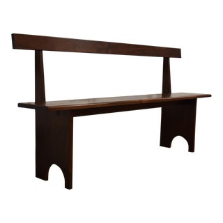 Solid Walnut Modern Bench
