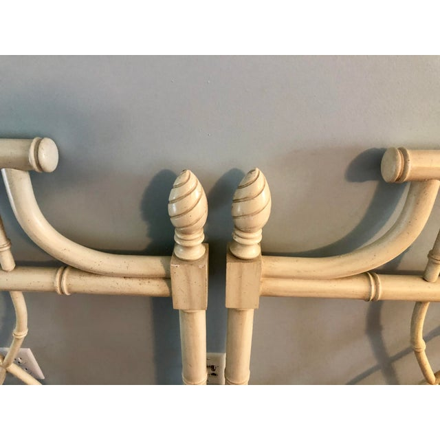 Faux Bamboo Chippendale Pagoda Twin Headboards- a Pair For Sale In Charleston - Image 6 of 8