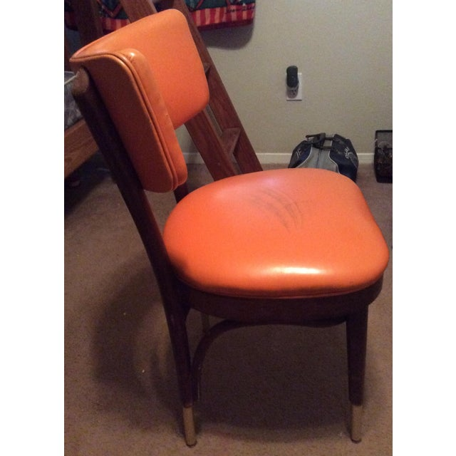 Shelby Williams Vintage Retro Orange Side Chair For Sale - Image 4 of 9