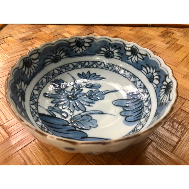 Beautiful blue and white floral bowl. An excellent addition to any blue and white collection and a perfect accent to any...