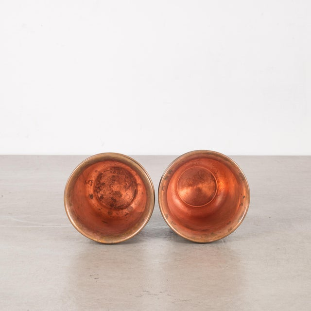 Metal Set of Copper Ware Picnic Cups C.1950 - Set of 6 For Sale - Image 7 of 8