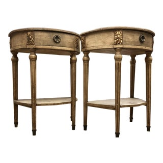 Antique French Gilded Demilunes - a Pair
