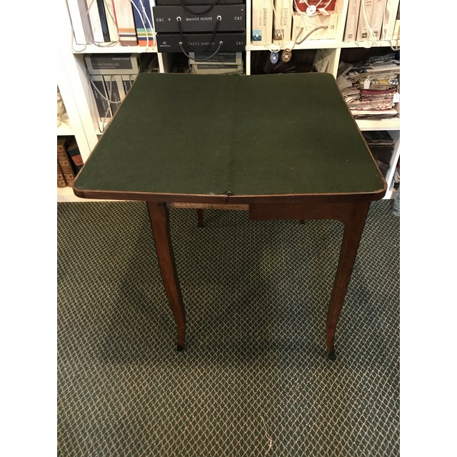 Wood 1700's Antique Inlaid Game Table For Sale - Image 7 of 10