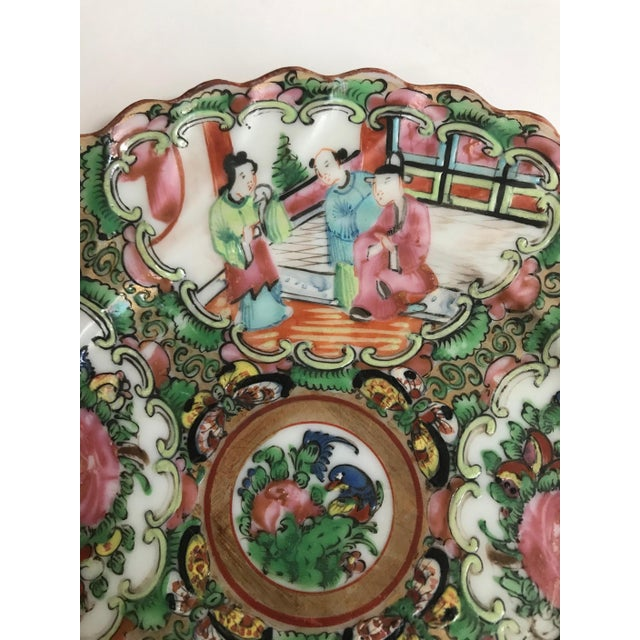 19th Century Chinese Export Rose Medallion Porcelain - Set of 12 Saucers For Sale - Image 4 of 10