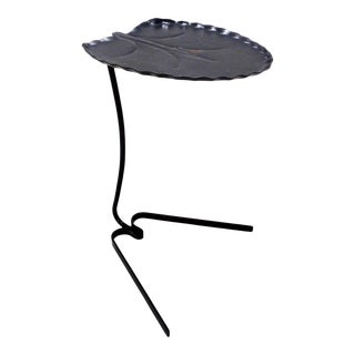 Vintage John Salterini Iron Lily Pad Garden Table For Sale