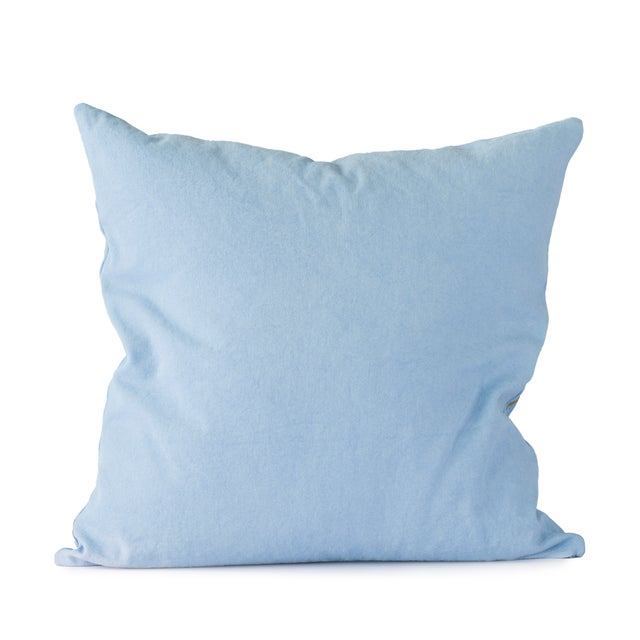 Italian Blue Flower Throw Pillow For Sale - Image 3 of 4
