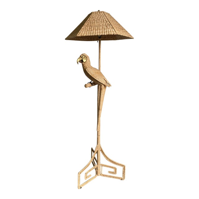 Vintage Mario Lopez Torres Parrot Floor Lamp For Sale