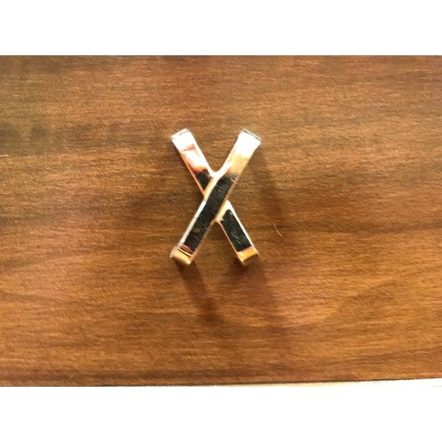 Wood 1950s MCM Paul Frankl 10-Drawer X Pull John Stuart Double Chest Dresser Walnut Finish For Sale - Image 7 of 12