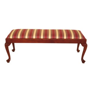 Century Queen Anne Cherry Window Bench