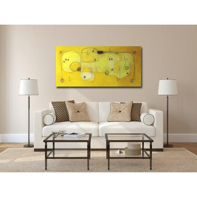 """Yellow """"Espacio De Sol"""" Original Abstract Artwork by Sergio Valenzuela For Sale - Image 8 of 9"""