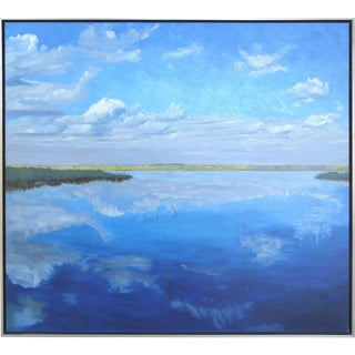 """""""Airboat, Everglades"""" Oil on Canvas by American Artist Carloyn Francis For Sale"""