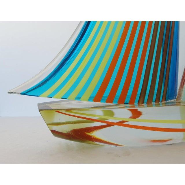 Alberto Donà Sailboat Sculpture by Alberto Dona' For Sale - Image 4 of 9