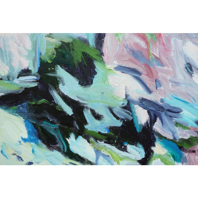 "Laurie MacMillan Laurie MacMillan ""Tween Season"" Abstract Painting For Sale - Image 4 of 5"