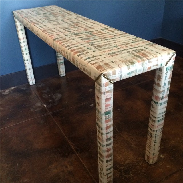 Upholstered Sofa Table - Image 8 of 11