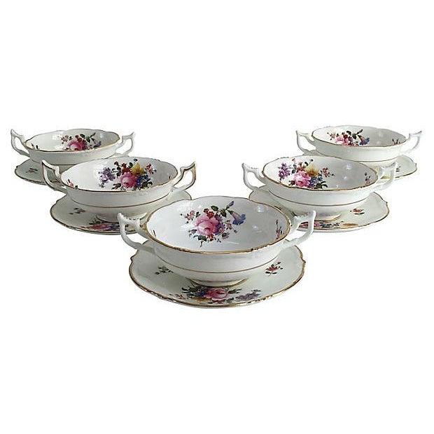 Ceramic English Porcelain Cauldon Soup Bowl Set - Set of 10 For Sale - Image 7 of 7