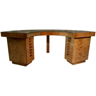 Art Deco Birch Plywood Jewelers Desk Manner of Alvar Aalto For Sale