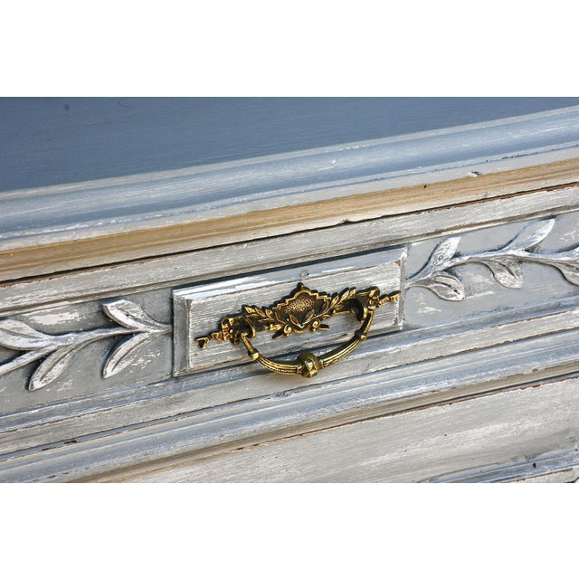Traditional French Louis XVI-style Painted Buffet - Image 3 of 10