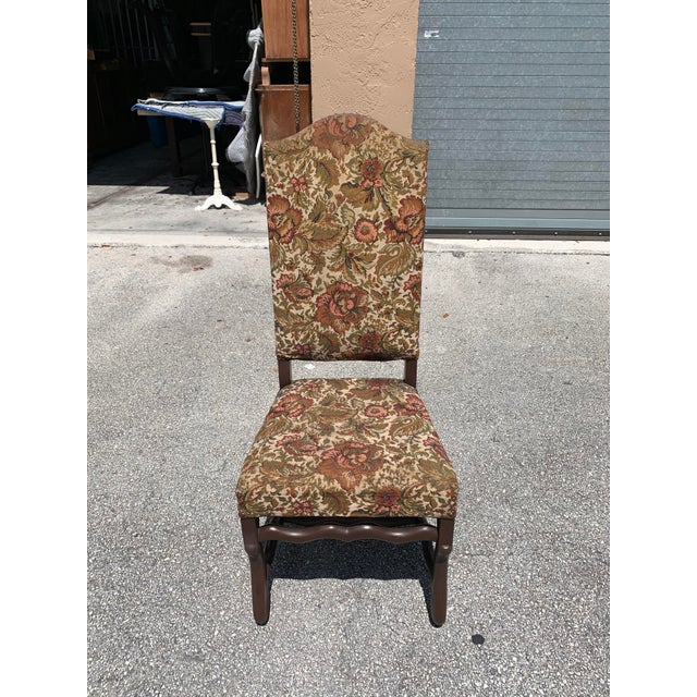 1900s Vintage French Louis XIII Style Os De Mouton Dining Chair For Sale - Image 9 of 13