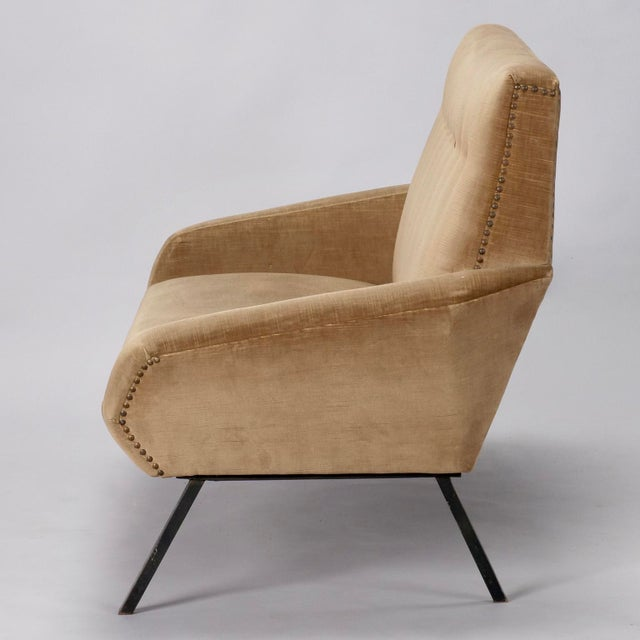 Mid-Century Italian Settee in the style of Marco Zanuso For Sale In Detroit - Image 6 of 8
