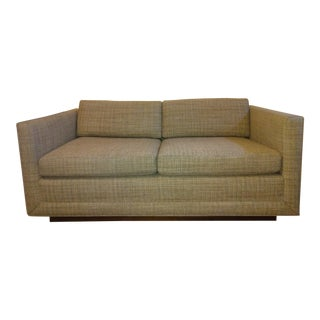 1980s Edward Axel Roffman Floating Cube Loveseat For Sale