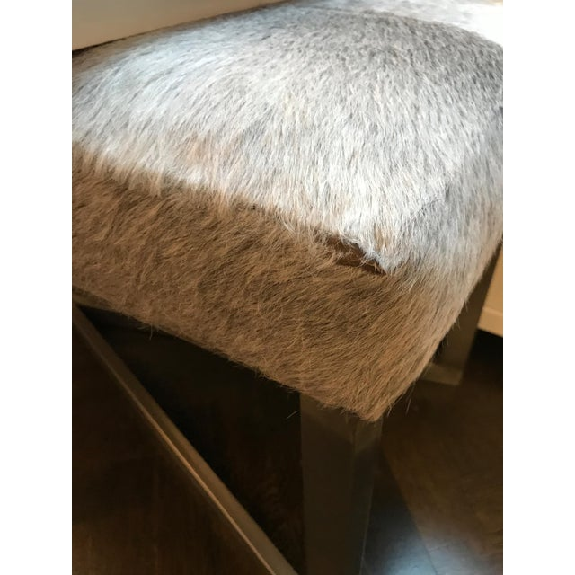 Animal Skin Made Goods Roger Double Bench For Sale - Image 7 of 7