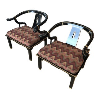 Vintage Mid Century Horseshoe Chow Chairs- A Pair For Sale