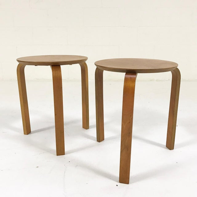 Danish Stacking Side Tables - A Pair For Sale - Image 4 of 4