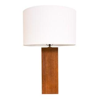 Mid Century Laurel Studio Wood Rectangular Column Lamp