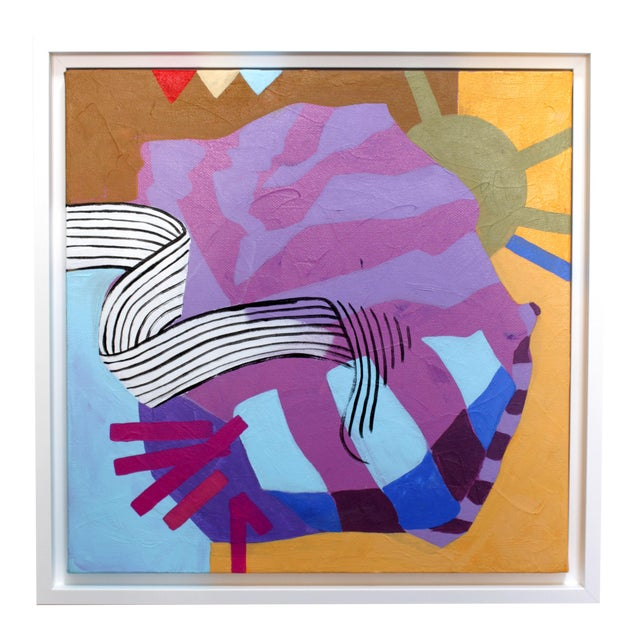 Angela Chrusciaki Blehm Lilac Knot Contemporary Painting For Sale