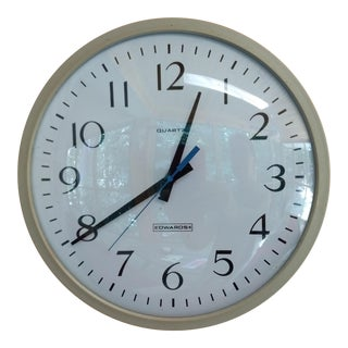 Vintage G. S. Edwards School Industrial Wall Clock For Sale