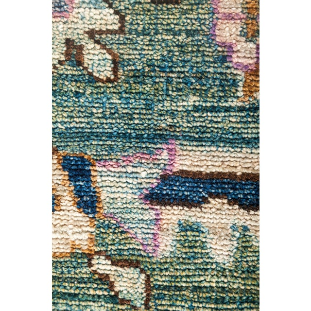 "Eclectic Hand Knotted Area Rug - 9' 0"" X 11' 9"" - Image 3 of 4"