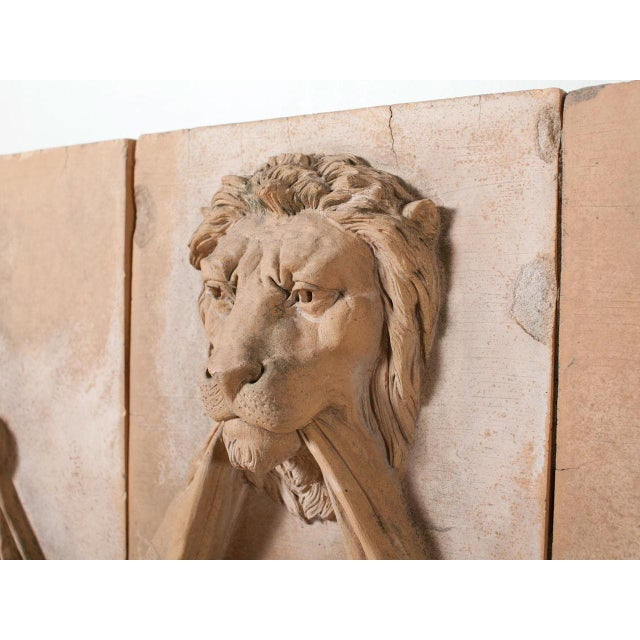 Mid 19th Century Mid 19th Century Antique Terracotta Lion Panel For Sale - Image 5 of 6