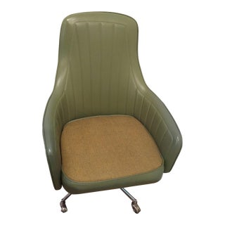 Vintage Mid Century Modern Jankso Swivel Desk Chair For Sale