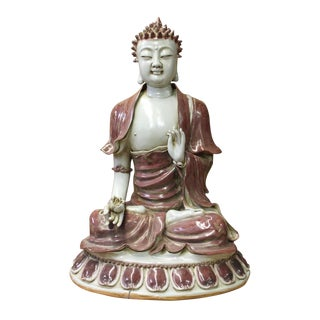 Vintage Chinese Sitting Amitabha Buddha Statue For Sale