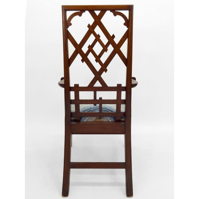High-back Diamond Fret Chair For Sale In New York - Image 6 of 7